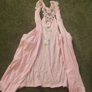 Maurices Sleeveless Light Pink Summer Vest